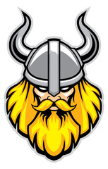 viking warrior head mascot