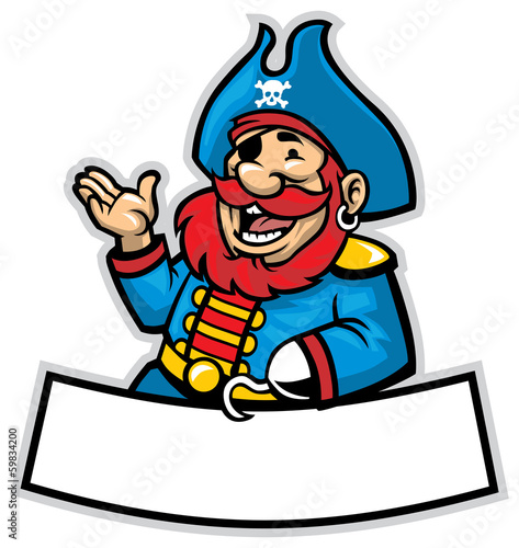 cartoon of pirate captain