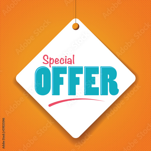 Special Offer - Vector Paper tag / sticker