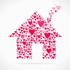 Valentine day love declaration home