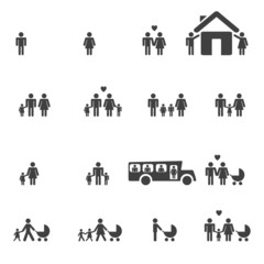 People Family Pictogram.