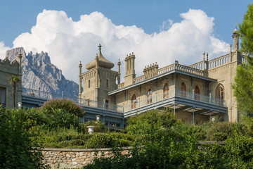 Beautiful Palace against the mountain