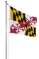 3D Maryland Flag