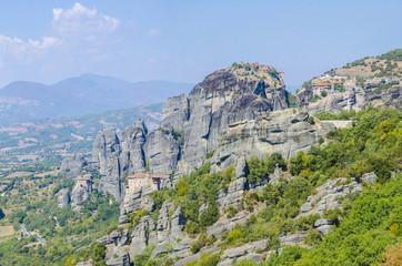 monastery Agias Roussanou Meteora mountain, Greece