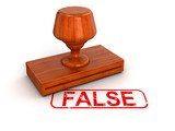 Rubber Stamp False (clipping path included)