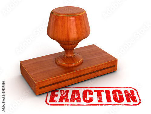 Rubber Stamp exaction (clipping path included)
