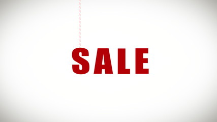 """Sale"" word with alpha"