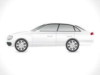 glossy white sedan car template