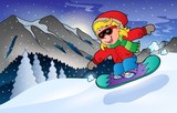 Winter mountain sport theme 2