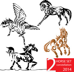 Sets of constellation horse no.2,zodiac horse