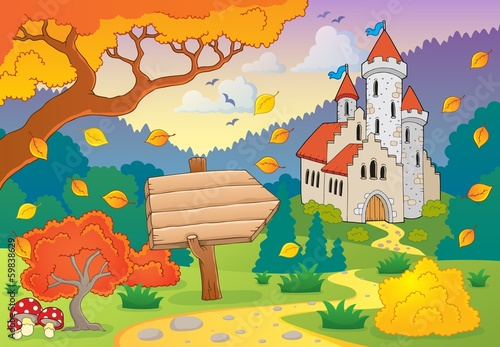 Autumn theme with castle 2