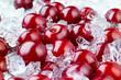 Frozen cherry with ice