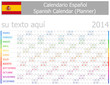2014 Spanish Planner-2 Calendar with Horizontal Months