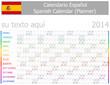 2014 Spanish Planner-2 Calendar with Horizontal Months