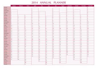 2014 Annual Planner