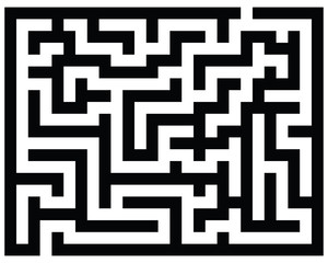 Black and white maze, vector illustration