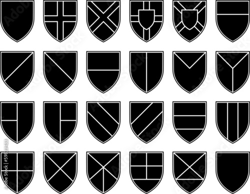 divisions of the shield  stencils