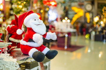 Santa Claus toy sitting, Christmas decoration