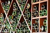 Lots of wine bottles stored in the racks