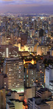 Aerial view of SaoPaulo city in the night