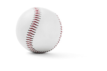 Baseball on white background with clipping path