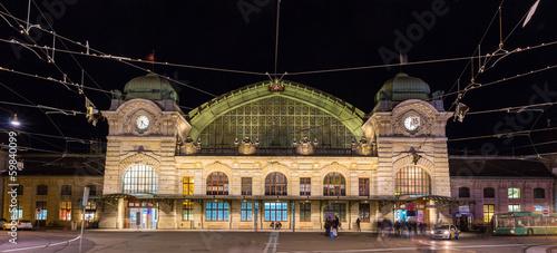 Leinwanddruck Bild Basel SBB railway station in Switzerland