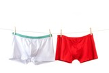 Man's underwear in white and red