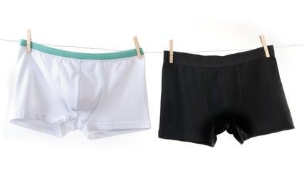 Man's underwear in white and black