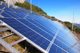 Solar Panels on Top of Mountain