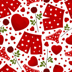 seamless background by St. Valentine's Day.