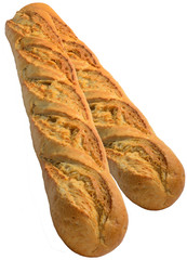 French bread baguettes isolated