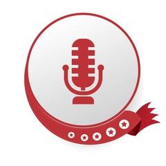 Microphone symbol,vector