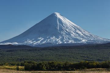 Landscape of Kamchatka: Kluchevskoy Volcano