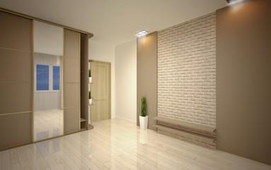 interior Design. Modern empty living room