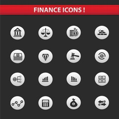 Finance icons,vector