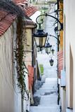 Fototapety Narrow street and stairs