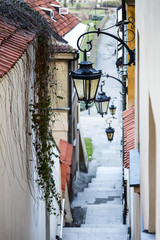 Narrow street and stairs