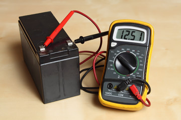 Measure the voltage at the battery.