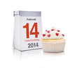 14 Februar mit Cupcake