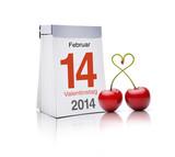 14. februar mit Herzkirschen