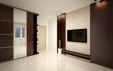 interior Design. Modern empty living room