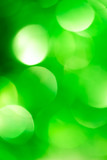festive green bokeh as background