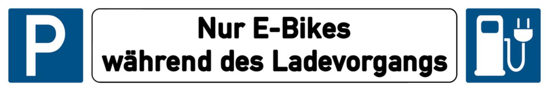 German Schild G305 - Nur E-Bikes während des Ladevorgangs