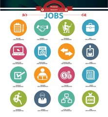 Jobs icons,vector