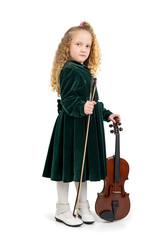 Beautiful young musician