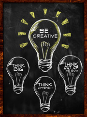 Be creative, Think big and different