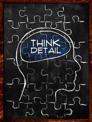 Think Detail Puzzle - On blackboard