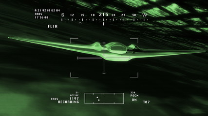 FQ 170 Sentinel Type Drone Flying Nightvision 3D artwork
