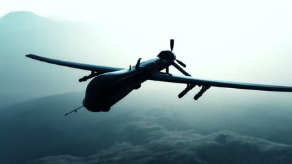 Predator Type Drone 3D animation
