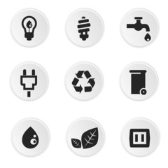 Ecology icons,on white background vector